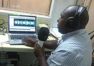 National Communications Coordinator, Daniel Eka, in his studio at Nazarene Melanesia Bible College, Papua New Guinea.