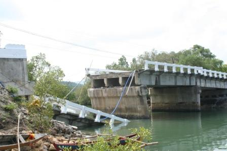 Much of the infrastructure was destroyed in the earthquake.
