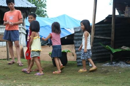 Many families are currently living in makeshift tents, away from their damaged or destroyed homes.