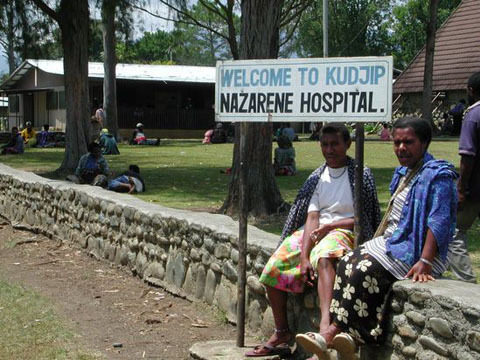 Entrance to the Kudjip Hospital in Papua New Guinea.