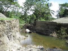 Washed out bridge on road to Macedonia Church