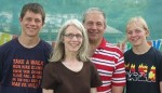 Dr. Jim and Kathy Radcliffe, with youngest children Josiah and Lydia.  They have served in PNG since 1985.