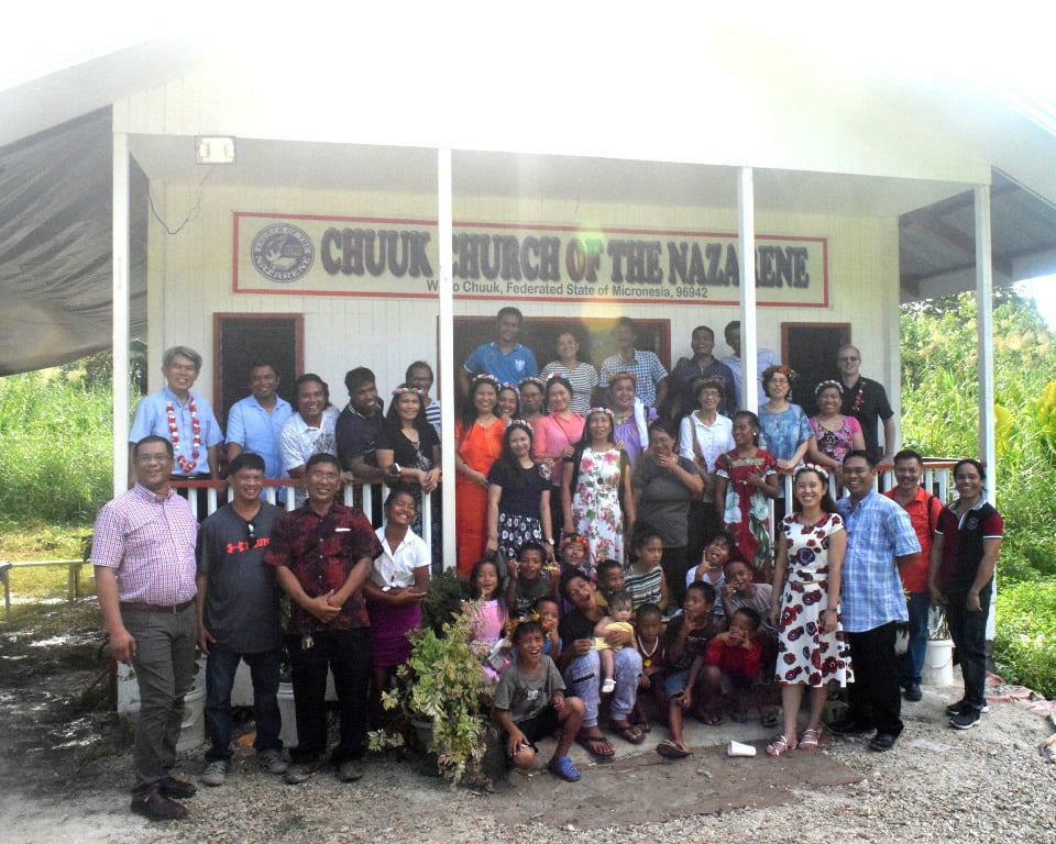 Chuuk Church of the Nazarene dedicates new building.