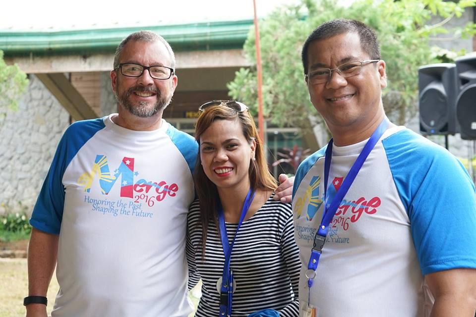 (L/R) Gary Hartke, Racquel Valeza, Stephen Gualberto