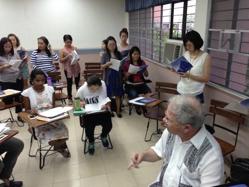 Dr. Seifert instructing the Choir.