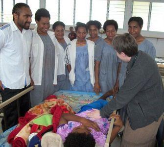 Students on the Ward at Kudjip Nazarene Hospital.
