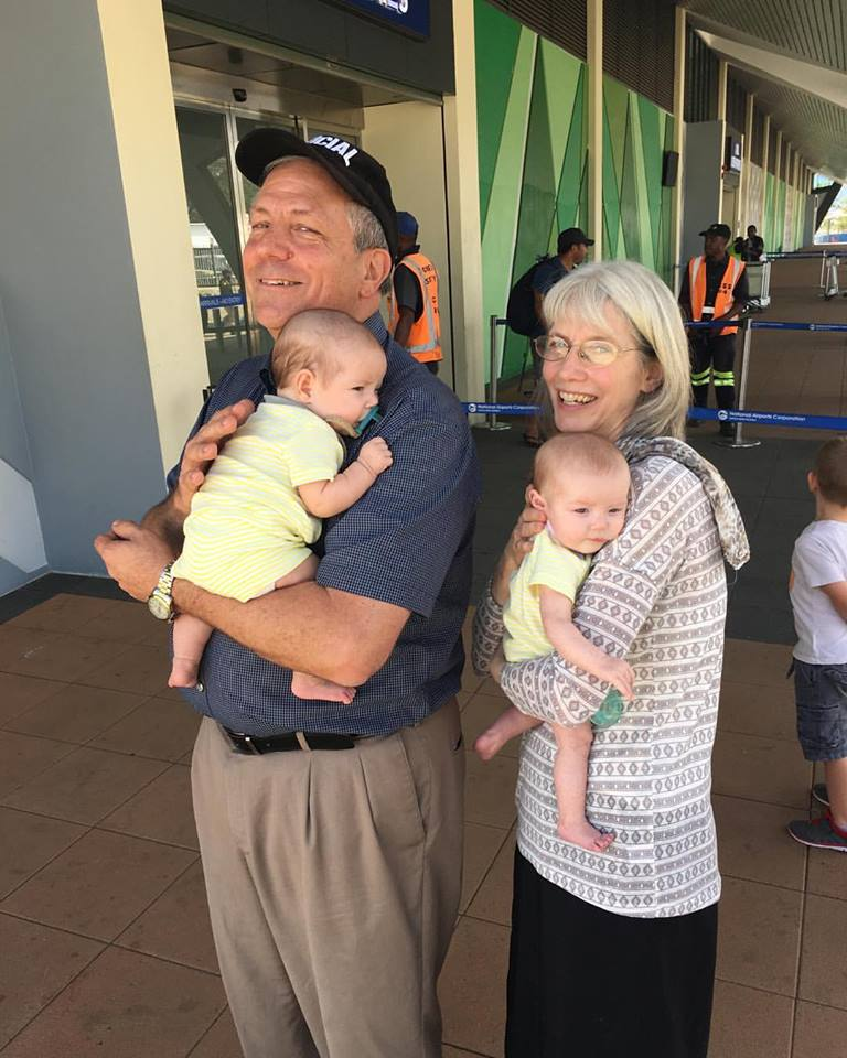 Radcliffe babies with grandparents