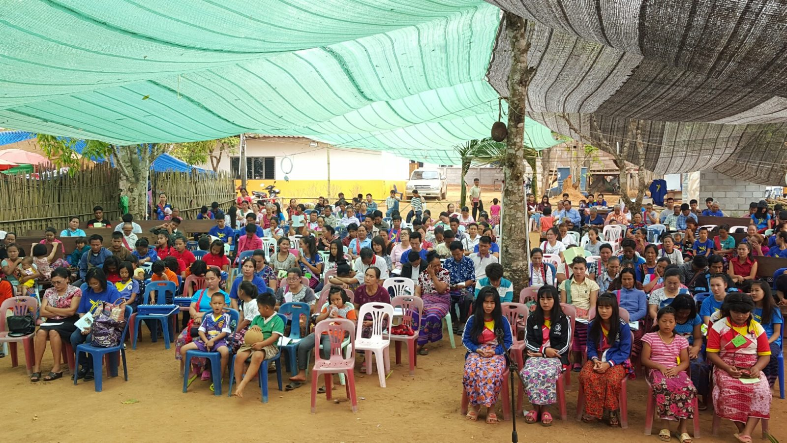 Tent Meeting Group Photo