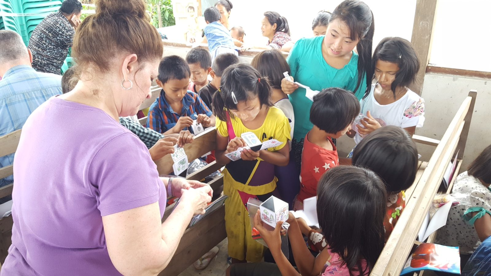 More than 100 children showed up daily for the Vacation Bible School
