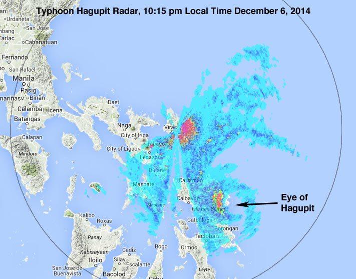 hagupit-radar-landfall