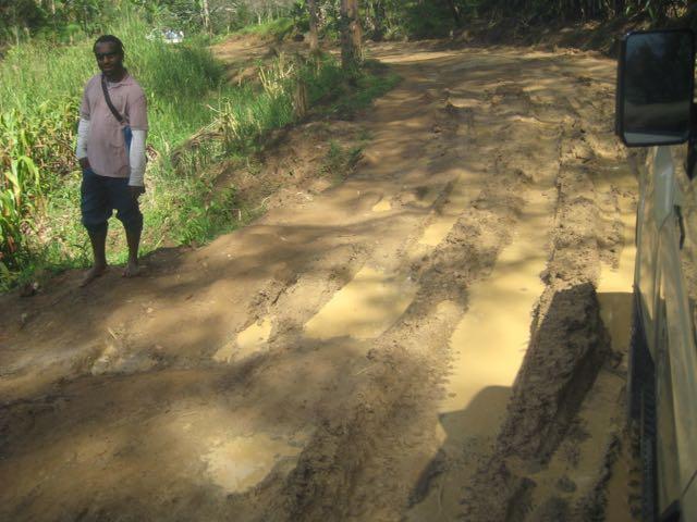 Muddy, difficult roads in the highlands of Papua New Guinea.